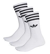 Adidas Originals Solid Crew Sock 3 Pack - calzini fitness, White