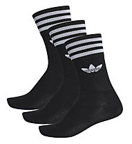 adidas Originals Solid Crew Sock 3 Pack - calzini fitness, Black