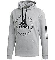 adidas Sport ID - felpa con cappuccio - uomo, Grey
