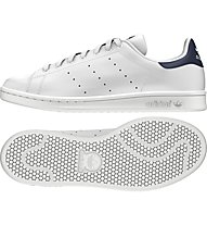 Adidas Originals Stan Smith Turnschuh Halle, White/Dark Blue
