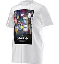 Adidas Originals Strett Photo Tee Herren T-Shirt Fitness Kurzarm, White