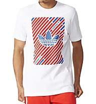 Adidas Originals Stripes Trefoil T-Shirt, White