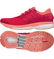 Adidas Supernova Glide 8 W - Damenlaufschuhe, Red/Shock Pink
