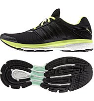 Adidas Supernova Glide Boost 7 W, Core Black/White/Frozen Yellow