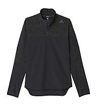 Adidas Supernova Storm 1/2 Zip Sweatshirt - maglia running, Black