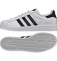 Adidas Originals Superstar scarpa da ginnastica, White/Black
