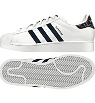 Adidas Originals Superstar W Damen Sneaker, White/Blue