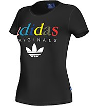 Adidas Originals T-Shirt Damen Fitness Kurzarm, Black