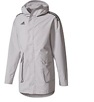 adidas Tango Future All-Weather Long - giacca a vento con cappuccio, Light Grey
