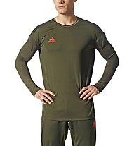 Adidas Tanf Poly  - Fußballtrikot Langarm - Herren, Green