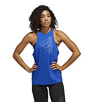 adidas Tech Bos - canotta fitness - donna, Blue