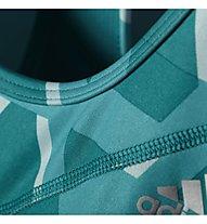 Adidas Techfit Triax-Print reggiseno sportivo, Eqt Green/Print/Silver
