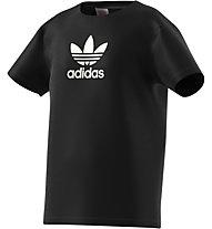 adidas Originals Tee - T-Shirt - Kinder, Black/White