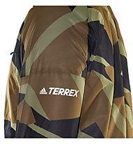 adidas Terrex Agravic Grafic 2,5 L Rain - giacca trail running - uomo, Brown/Black