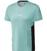 adidas Terrex Parley Agravic TR Pro - maglia trail running - uomo, Green/Black