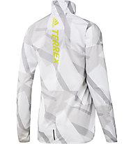 adidas Terrex Parley Agravic TR Wind.Rdy Windbreaker - Laufjacke - Damen, White/Grey/Yellow