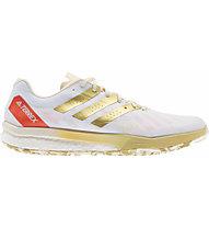 adidas Terrex Speed Ultra - Trailrunningschuh - Herren, White/Gold /Red