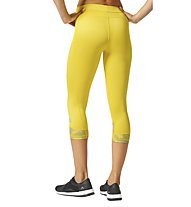 Adidas Techfit Capri Print - kurze Trainingshose - Damen, Yellow