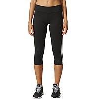 Adidas Tight 3/4 D2M 3-Stripes - kurze Trainingshose - Damen, Black/White