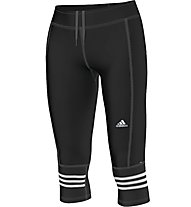 Adidas Response Tight 3/4 Laufhose Damen, Black/White