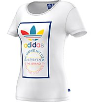 Adidas Originals Tl Slim Tee Damen T-Shirt Fitness, White