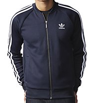 Adidas Originals Track Jacket Superstar Felpa, Night Blue