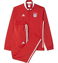 Adidas Tracksuit FC Bayern Monaco Youth - tuta calcio bambino, True Red/White