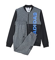Adidas Tracksuit Lineage - Trainingsanzug Kinder, Black/Dark Grey