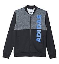 Adidas Tracksuit Lineage - tuta da ginnastica bambino, Black/Dark Grey