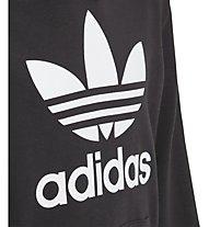 adidas Originals Trefoil - felpa con cappuccio - bambino, Black