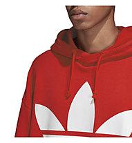 adidas Originals Trefoil Oversized - felpa con cappuccio - uomo, Red
