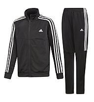 adidas Trio - Trainingsanzug - Kinder, Black/White