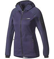 Adidas TERREX Stockhorn - Fleecejacke mit Kapuze - Damen, Dark Violet