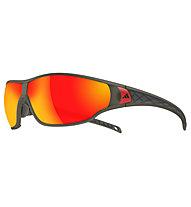 adidas Tycane Large - occhiali da sole, Umber Matt Translucent-Red Mirror