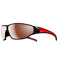 adidas Tycane Large - Sportbrille, Shiny Black/Red-LST Polarized Silver H+