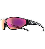 adidas Tycane Small - occhiali da sole, Black Matt/Purple Mirror