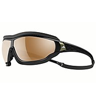 adidas Tycane Pro Outdoor Large - Sportbrille, Black Shiny/Grey-LST Bluelightfilter Silver
