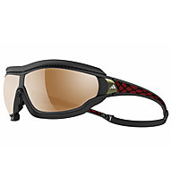 Adidas Tycane Pro Outdoor Small - Sportbrille, Black Matt/Red-LST Bluelightfilter Silver