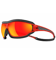 Adidas Tycane Pro Outdoor Small - Sportbrille, Red Matt Translucent-Red Mirror