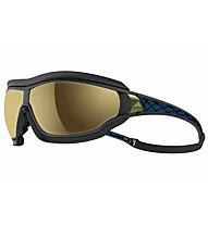 Adidas Tycane Pro Outdoor Small - Sportbrille, Black Matt/Blue-Space Lens
