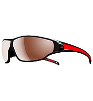 adidas Tycane Small - occhiali da sole, Shiny Black/Red-LST Polarized Silver H+