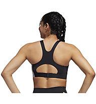 adidas Ultimate Alphaskin Badge Of Sport - reggiseno sportivo a sostegno elevato - donna, Grey/Black