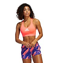 adidas Ultimate Alphaskin Badge of Sport - reggiseno sportivo supporto elevato - donna, Pink