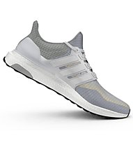Adidas Ultra Boost scarpa running donna, White/Clear Grey
