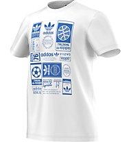 Adidas Originals Vintage Trfl T Herren T-Shirt Fitness Kurzarm, White