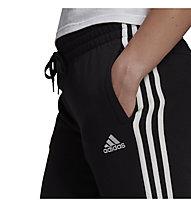 adidas W 3S FT Cuffed PT - Traininghose lang - Damen, Black/White
