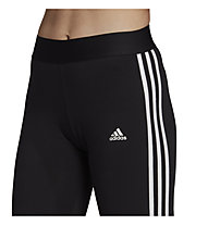 adidas W 3S Leg - Traininghose lang - Damen, Black/White