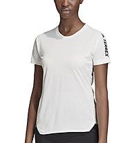 adidas Terrex Agravic All.Around - maglia trail running - donna, White