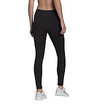 adidas W Essentials High Waist - Traininghose lang - Damen, Black/White