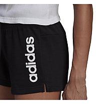 adidas W Lin FT - pantaloni corti fitness - donna, Black/White